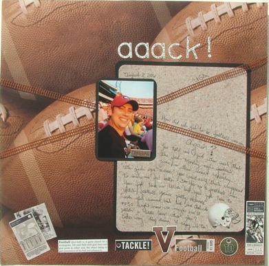 Scrapbooking Layout Ideas Photos Of 2 Football 12 X 12 Layouts